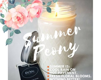 SUMMER SCENTS* French Provincial Inspired Tall Lattice Jar Soy Candle. GREAT Teacher Gift or thank you gift