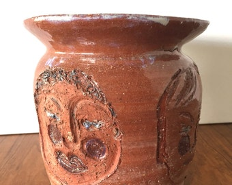 Outsider Art Pottery Vessel