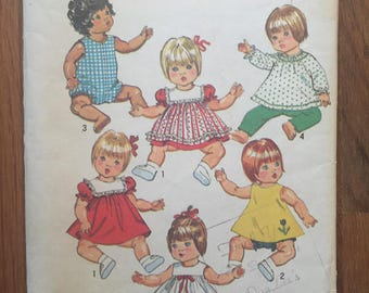 """Vintage Doll Pattern / Doll Clothes Pattern / Simplicity 5947 / 18"""" Doll / 20"""" Doll -NC- Vintage Sewing Pattern / Vintage Doll Clothes"""