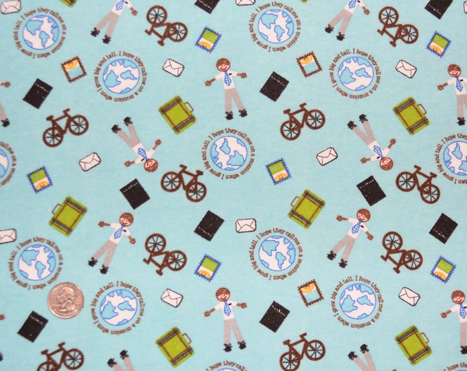I Hope They Call Me On A Mission -  LDS Fabric Cotton FLANNEL - Alpine Original