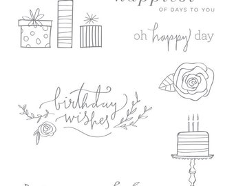 Stampin' Up! Gently Used Happiest of Days  Clear-Mount Rubber Stamp Set Wedding