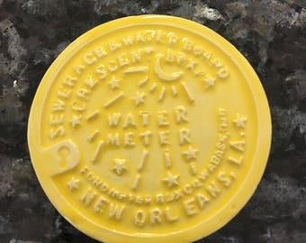 New Orleans Water Meter Magnet Yellow Water Meter Refrigerator magnet
