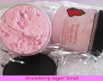 Pink Grapefruit Scrub,  Strawberry Sugar Scrub, Pineapple Sugar Scrub,  Vanilla Scrub, Peach Sugar Scrub, Orange Sugar Scrub, Lemon Scrub