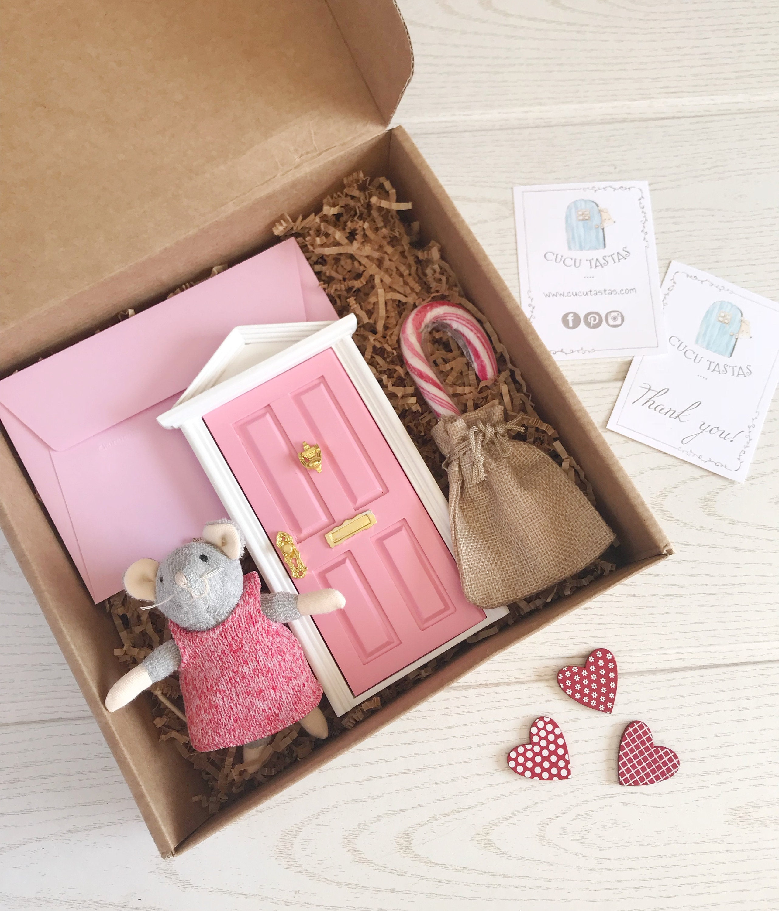 Tooth Fairy. Tooth Fairy door.Personalized gift box with