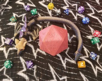 Chroma Conclave D20 shaped Bath Bombs with Mystery Dice