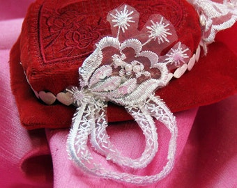 Red Velvet Heart-Shaped Fascinator