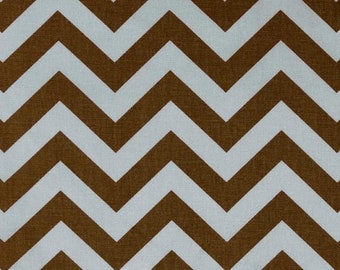 SALE Blue Brown Chevron Fabric by the YARD  zigzag village natural Premier Prints Home Decor upholstery curtains runner pillow  SHIPsFAST