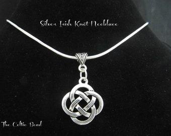 Silver Celtic Knot  Necklace