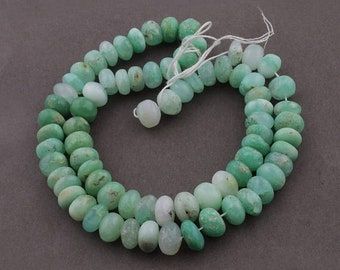 Memorial Day 1 Strand Chrysoprase Smooth Rondelles - Plain Roundel Beads 9mm-10mm 17 Inches SB4848