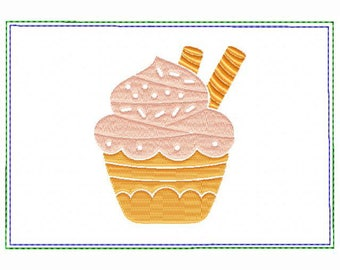 Cupcake Small Money Purse 05 - In The Hoop Machine Embroidery Design
