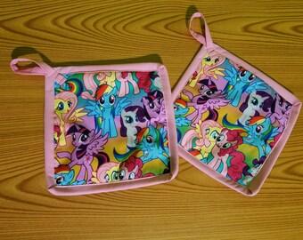 My Little Pony Set of 2 Potholders