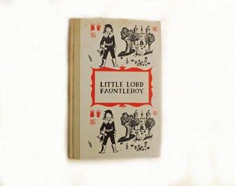 1950s Little Lord Fauntleroy, Vintage Young Reader Book, Literary Fiction, Fiction Novel, English Romance, Frances Hodgson Burnett,
