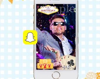 Snapchat GeoFilters, Birthday Snapchat Filters, Party Snapchat Filter, Vegas Snapchat GeoFilter, Vegas Birthday Party, Poker Geofilter