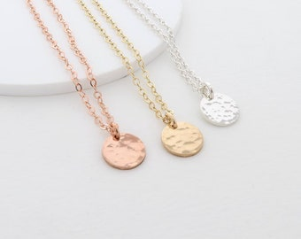 Dainty Dot Necklace, textured coin necklace, layering jewellery