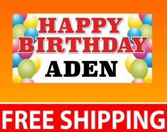 2'x4' Birthday Banner Vinyl Banner - Free Shipping
