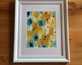 Mustard! Original Acrylic Abstract Painting on canvas framed, Abstract Art, Modern Art, Abstract Painting, Home Decor, Wall Art