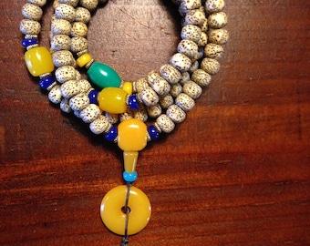 Tibetan Buddhist 108 Star moon Bodhi seed 'Prayer Beads 'YoGa jewelry/ Bracelet/ Necklace