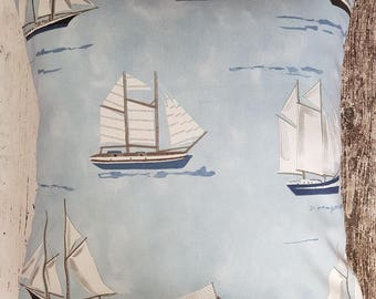 Mariner - boats - cushion cover - 100% cotton fabric