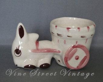 Vintage Bunny Planter