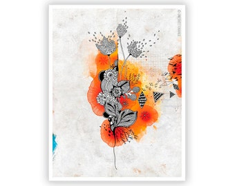 Forbidden Thoughts by Iveta Abolina -  Floral Illustration Print