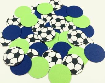 Soccer Confetti - Soccer Party Decorations - Soccer Table Confetti - Soccer Baby Shower Decor - Soccer Birthday Party Confetti