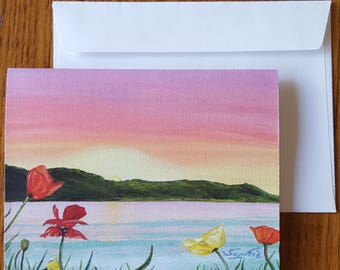 Sunrise Notecards/Painted Stationary/Oil Print