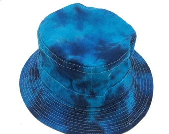 Tie Dye Bucket Hat - Blues