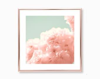 Cherry blossom art, framed wall art, wall art canvas, extra large wall art, canvas art, gallery wall art, flower photography, floral print