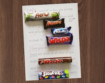 Father's Day Gift || Funny Pun Print || Father's Day Present || Choc NOT Included