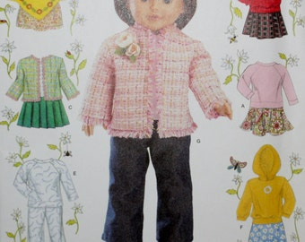 "Simplicity 4297 18"" Doll Clothes  Sewing Pattern New/Uncut"