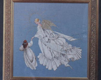 Counted Cross Stitch Pattern | Lavender & Lace | Angel of Mercy