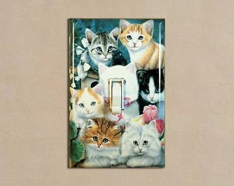 Kitties Cat Kitten - Light Switch Plate Covers Home Decor Outlet