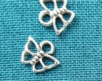 Set of 2 Tibetan silver Butterfly charms