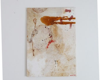 Abstract painting on canvas/mixed media on canvas - original - painting; Mixed media