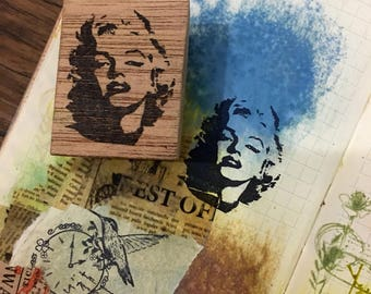 MARILYN MONROE Wood Mounted Rubber Stamp
