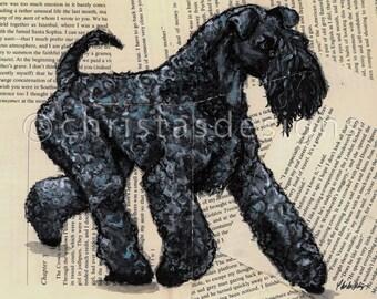 8x10 Kerry Blue Terrier Movement Print