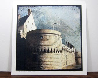 The Dukes of Brittany Castle - Print photo 30 x 30 cm - signed and numbered
