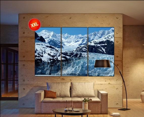 Glacier Bay Alaska  canvas Glacier Bay Alaska  wall decoration Glacier Bay Alaska  canvas art large canvas  wall decor