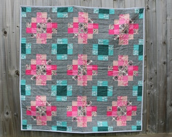 Granny Crosses Quilt and Cushion pattern by Nellie's Niceties