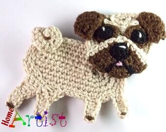 Crochet Applique pug