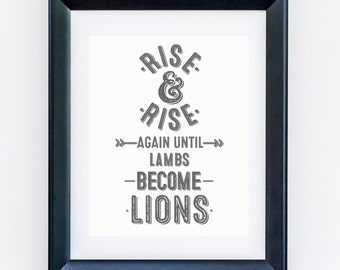 Rise and Rise A4 print