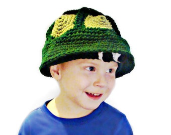 206 PDF Turtle Hat Crochet Pattern Infants to Adult sizes