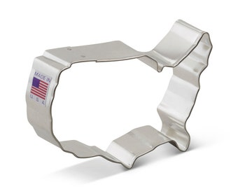USA Map United States Cookie Cutter,  4th of July cookie, Patriotic, Elections, political cookie cutter a