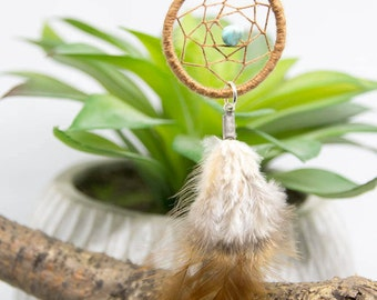 Brown and turquoise dream catcher