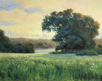 A Country Evening: Texas Landscape Original Art