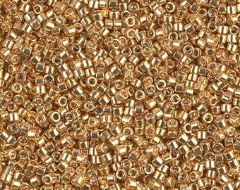 DB0410, MIYUKI DELICA BEAD, 11/0 Galvanized Yellow Gold, 5g, 10g, Delica Beads DB410