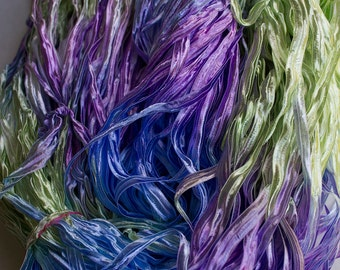 Party, Hand dyed ribbon yarn - Lt Nepeta, nylon 395 yds