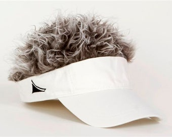 Flair Hair White Visor Grey Hair