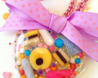 Kawaii Necklace, Pastel Necklace, Candy Necklace, Sweet Lolita, Pastel Jewelry, Food Jewlery, Candy Jewelry, Plastic Jewelry, Allsorts