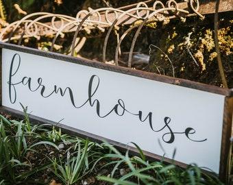 Farmhouse ~ farmhouse style, rustic decor, framed sign